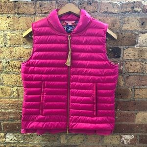 Lily Pulitzer Pink Cora Down Vest Size Small